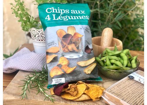 Chips aux 4 légumes (100g) - 3,90€