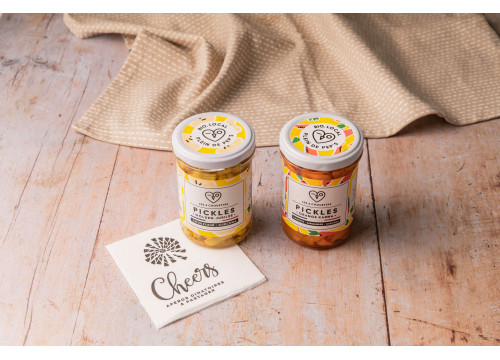 """Pickles BIO """"Les 3 Chouettes"""" (210g) - 6,90€"""