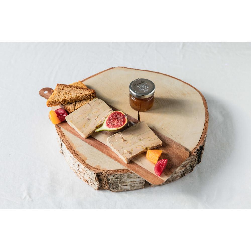 Foie gras de canard fait maison découpé en tranches et mis sous vide en livraison en France