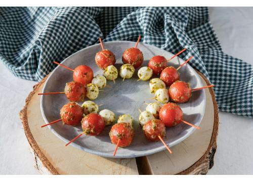 Brochettes tomates mozzarella au pesto x 16 pièces
